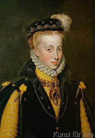 Sir Anthonis van Dashorst Mor - Königin Anna von Spanien / A. Mor
