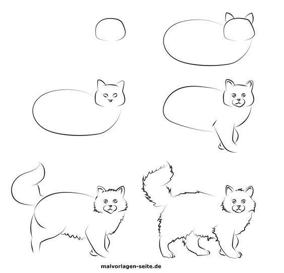 Einzigartige Katzenzeichnung Malvorlagen Farbenseiten Fur Kinder Malvorlagen Fure Katzen Katzen Katzen Basteln Katzen B In 2020 Sketches Art Character