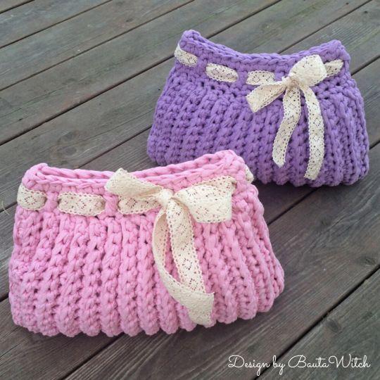 bolsos y carteras tejidas a crochet paso a paso