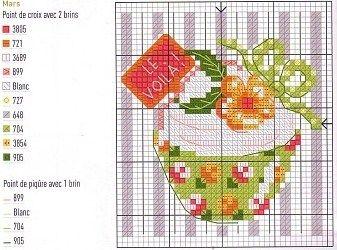free cross stitch chart. Change tag to say happy birthday etc