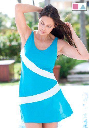 Jessica London Plus Size Colorblock Swimdress - List price: $99.99 Price: $34.99 Saving: $65.00 (65%)