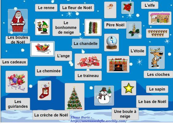 Dictionnaire Illustre De Noel St Nicolas Holidays And Events French Class