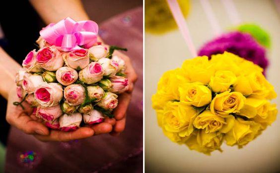 boules de roses decoratives