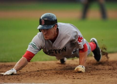 """Scott Podsednik shows what it takes to be a """"dirt-dawg"""".."""