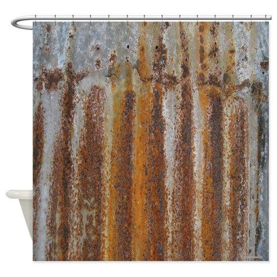 Rusty Tin Shower Curtain By Rebeccakorpita In 2020 Tin Shower