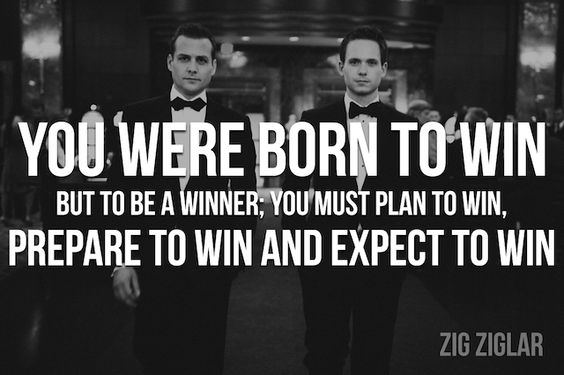 """Bring It On In It To Win It Quotes: """"You Were Born To Win, But To Be A Winner You Must Plan To"""