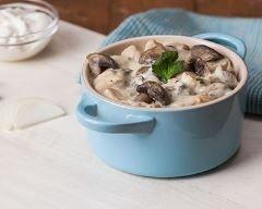 Champignons crémeux au fromage blanc, persil et curry (facile, rapide) - Une recette CuisineAZ