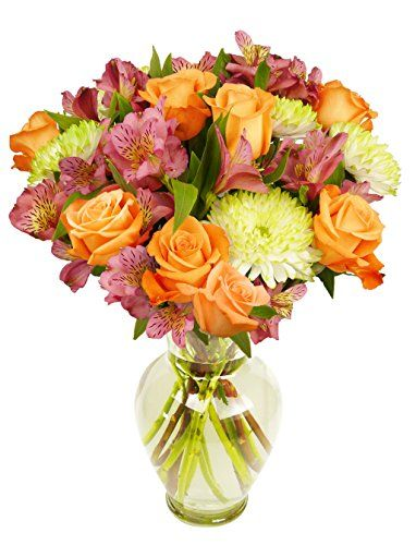 Treasured Moments Bouquet, With Vase - http://yourflowers.us/treasured-moments-bouquet-with-vase/: