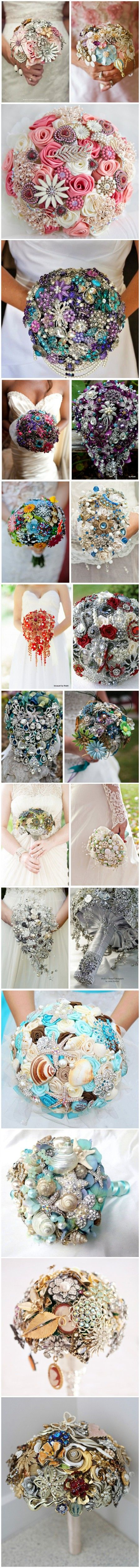 TOP 20 Chic Brooch Wedding Bouquets