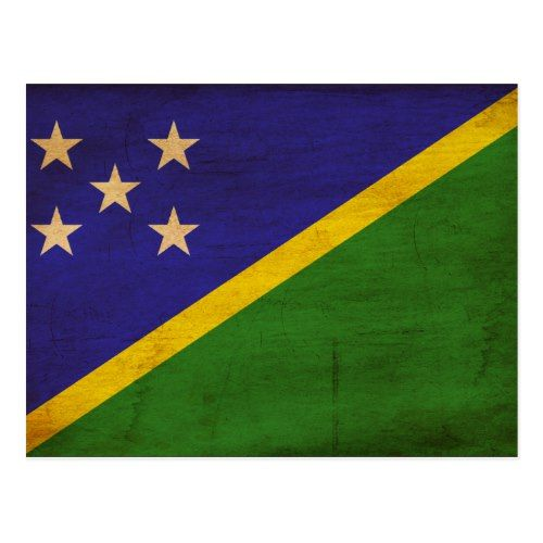 Solomon Islands Flag Postcard Zazzle Com Solomon Islands Flag Flag Solomon Islands