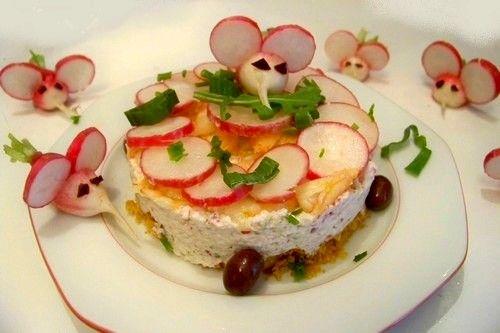 Cuisine en folie: Mousse de radis sur croustillant de TUC et petites souris gourmandes