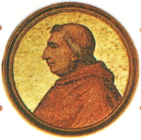 """Retrato do Papa Inocêncio VIII"".   (213º Papa). Nome: Giovanni Battista Cibo. (* Gênova, 25/Julho/1432 - Roma, 25/Julho/1492)."
