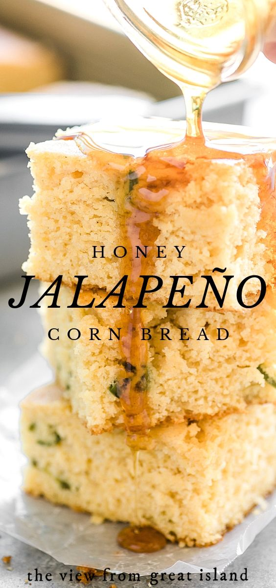 Honey Jalapeno Cornbread Recipe Is A Moist Southern Style Buttermilk Cornbread With A Hint Of Sweet Hon Sweet Cornbread Jalapeno Cornbread Mexican Food Recipes