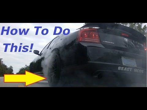 4 Easy Steps To Doing A Burnout With An Automatic Transmission Car