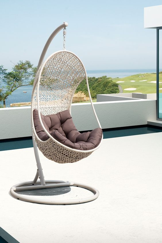 California Modern Classics  The Bestow Outdoor Hanging Chair - Espresso/Brown  $839.00 $1,200.00  30% off