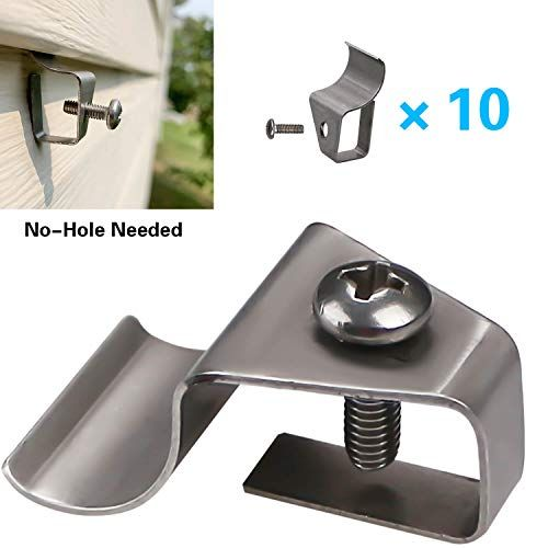 Vinyl Siding Clips Hooks No Hole Needed Outdoor Siding Screws Hanger For Mount Home Security Camera 10 P In 2020 Outdoor Siding Vinyl Siding Security Cameras For Home