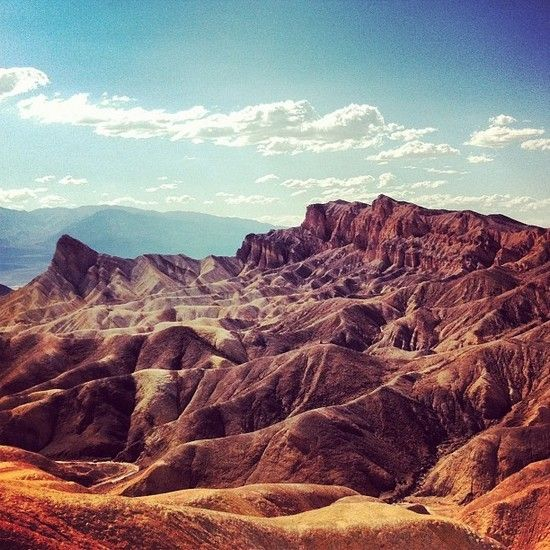 I want to go back when it's not that hot - it was 127° - Zabriskie point - Death Valley