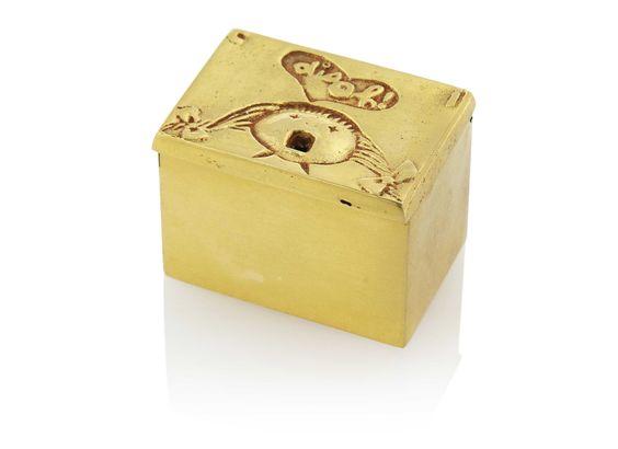 * C'EST IDIOT box 1943-1945 gilt-bronze - Line VAUTRIN