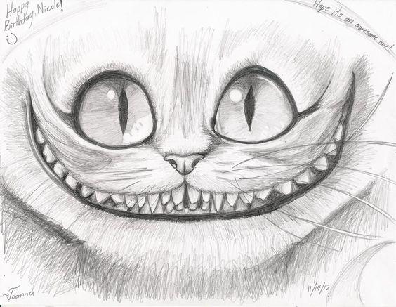best Gato De Alicia Dibujo Blanco Y Negro image collection