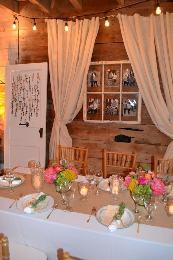 A rustic and elegant rehearsal dinner paper wedding and for Wedding dinner decoration ideas