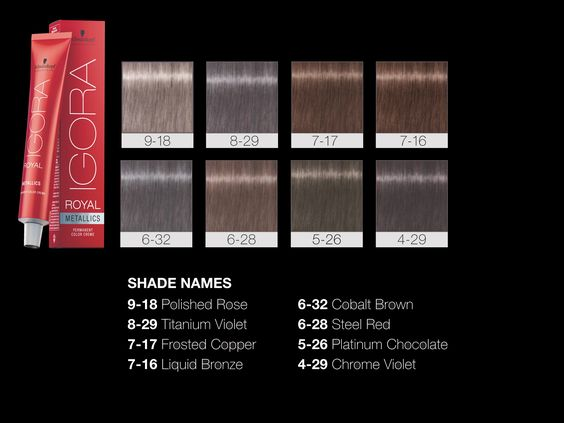 schwarzkopf professional igora royal metallics color shades - Nuancier Schwarzkopf Coloration
