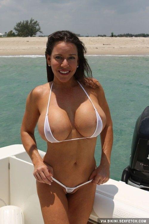 Micro bikini big tits