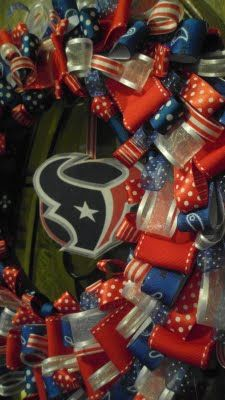 Houston Texans Ribbon Wreath
