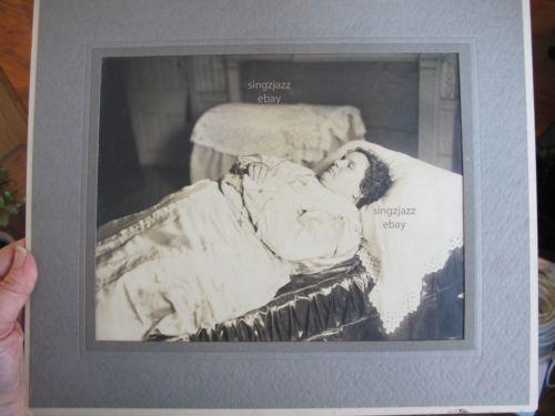 Antique Post Mortem Lovely BBW Fat Woman Death Photograph