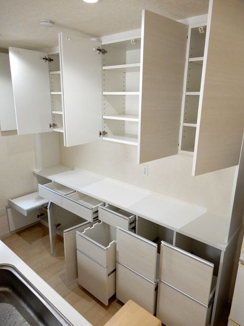 食器棚 サイズ W2670 d400 450 H2400 家具本体税抜き価格