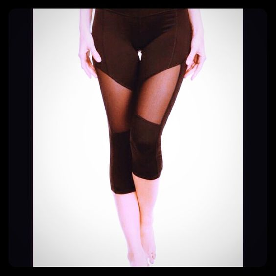 COMING SOON  Mesh it Up workout leggings Electric yoga brand-Yoga Cool up in Mesh.   This Capri has mesh panels on the side for a fresh workout. It's comfortable for everyday wear for those ladies like me who live in work it clothes and it's great for the summer for those hot outdoor activities!                                                   Material 87% polyester 13% Elastane         Limited availability!                                       sizes small medium available and large…