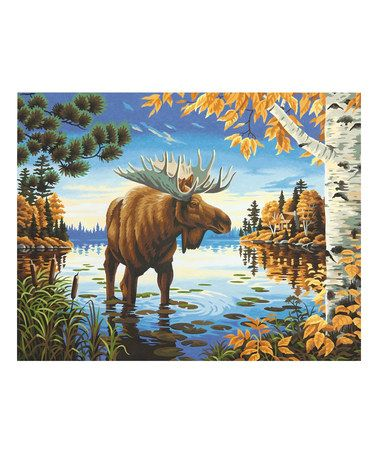 Love this Majestic Moose Paint by Numbers Art Kit on #zulily! #zulilyfinds