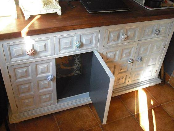Mueble castellano perla coco carabassa dormitorios - Como pintar muebles antiguos ...