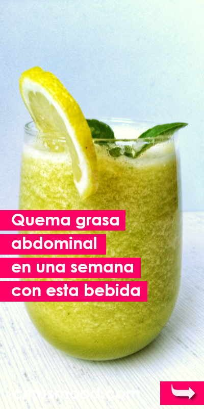 Bebidas para adelgazar el abdomen en una semana