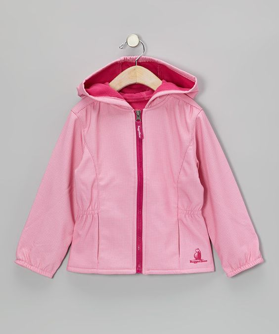 Take a look at this Rugged Bear Pink Rugged Bear Hooded Jacket - Toddler & Girls on zulily today!