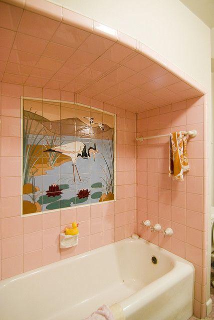 The Pink Bathroom Cranes