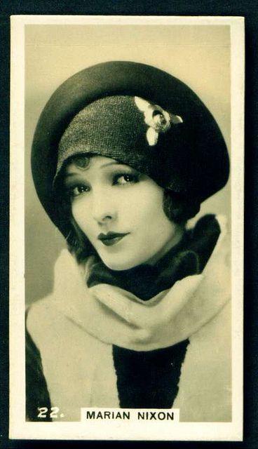 Marian Nixon cigarette card, 1924