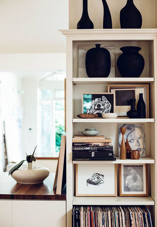 inspiring art collection at caroline walls' home. / sfgirlbybay
