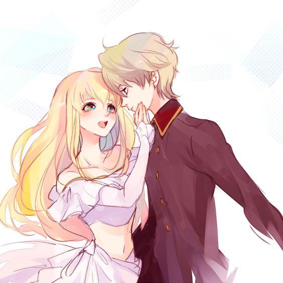 anime boy, anime couple, anime girl, couple, drawing, love ...