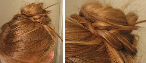 Easy to do cute braided messy bun
