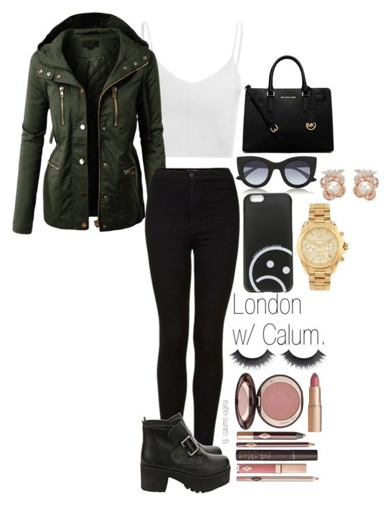 """""""Untitled #380"""" by madelin-ruby ❤ liked on Polyvore featuring Anabela Chan, Thierry Lasry, Michael Kors, Marc by Marc Jacobs, MICHAEL Michael Kors, Glamorous, LE3NO, Topshop and Charlotte Tilbury"""