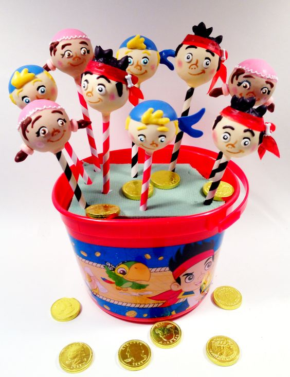Jake and the Neverland Pirates cake pops! By blakers dozen