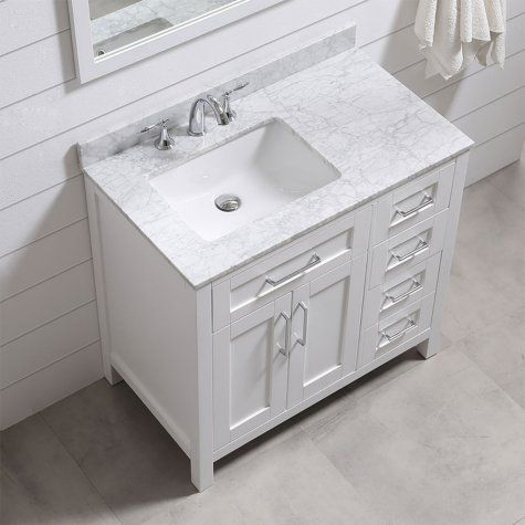 Ove Decors Tahoe 36 In Bathroom Vanity With Mirror White Single Sink Bathroom Vanity Single Bathroom Vanity Bathroom Sink Vanity
