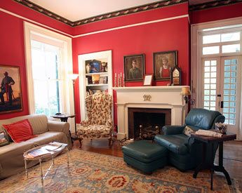 I have always wanted a living room with red walls