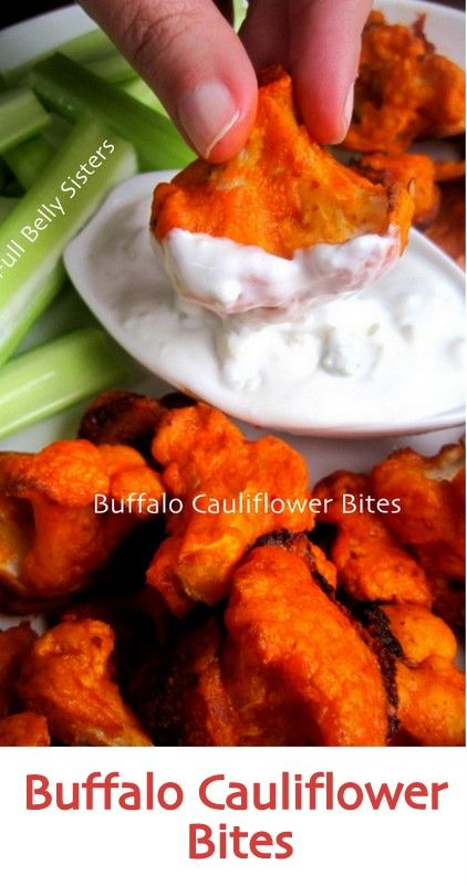 These vegetarian Buffalo Cauliflower Bites w/ Yogurt Gorgonzola Dip are so simple and tasty! A hit at any party (yes, even for meat-eaters!).
