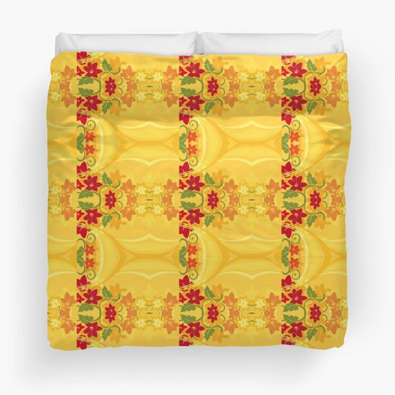 Sunny Summer Yellow Floral Pattern