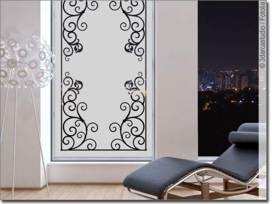 Sichtschutzfolie Klassischer Rahmen Sichtschutzfolie Haus Deko Fensterfolie