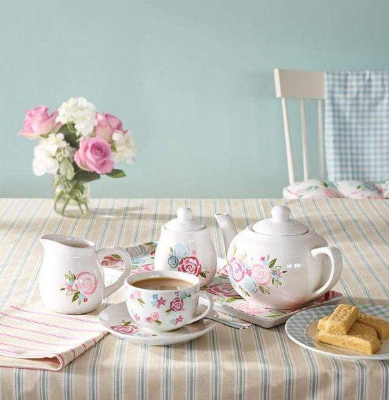 candy rose tea time dunelm teapots kettles and cups. Black Bedroom Furniture Sets. Home Design Ideas