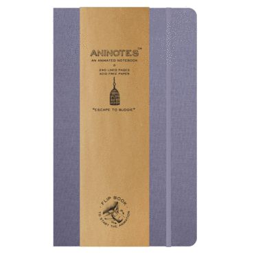 Aninotes Notebook - Escape to Budgie. A bird in shining armour, watch the budgie escape singing all the way with a new found love. £9.50 free UK delivery.