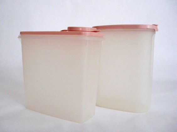 image detail for vintage tupperware pink kitchen canisters spring retro storage