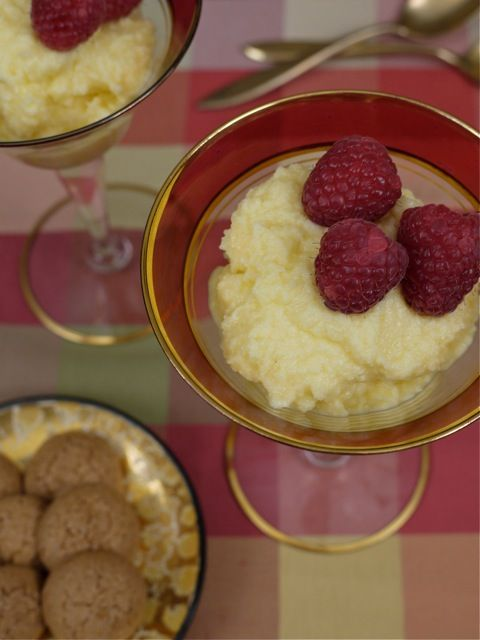 Raspberries and Mascarpone Cream